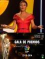 """Eva Hache luce una de las creaciones de Hannibal Laguna para la presentación de la """"Gala de los Premios LFP 2014""""."""